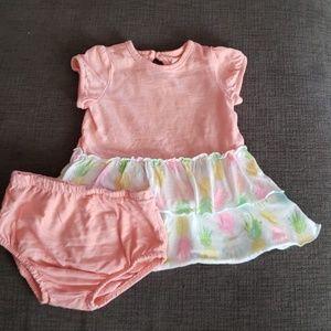 Fun Dress Pineapple-skirted dress w/diaper cover